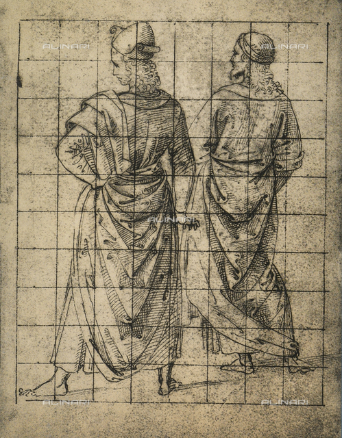 Two standing male figures, rear view, Gallerie dell'Accademia, Venice