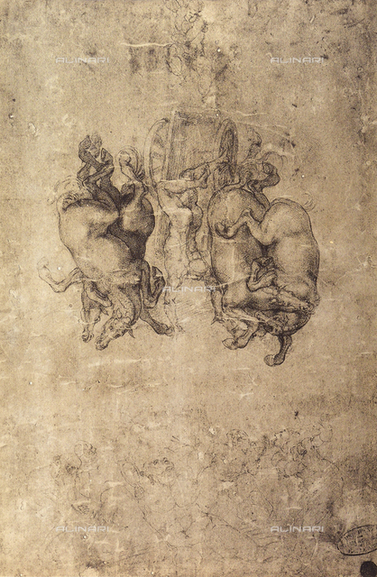 Study for the Fall of Fetonte, Gallerie dell'Accademia, Venice