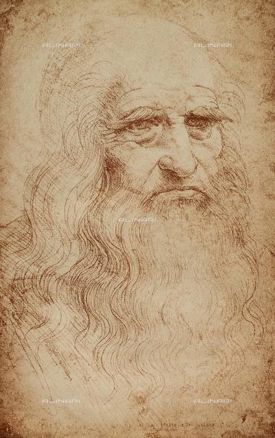 Self-portrait of Leonardo da Vinci, Biblioteca Reale, Turin