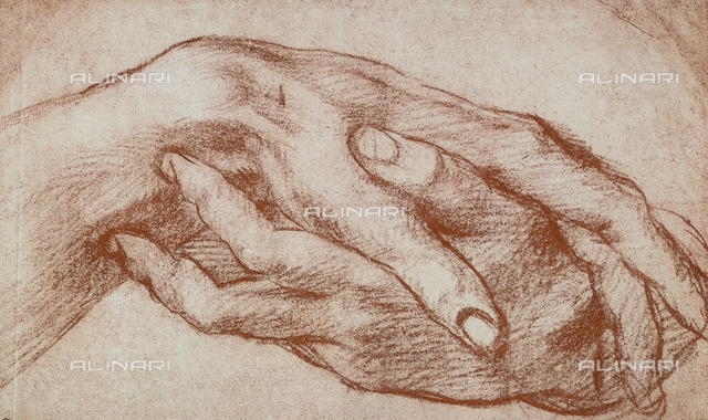 Study of hands, Andrea del Sarto, The Louvre, Paris