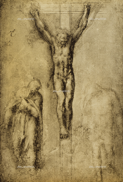 Crucifixion, drawing, Michelangelo, The Louvre, Paris