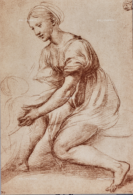 Study for the Holy Family of Francis I; drawing by Raphael, The Louvre, Paris