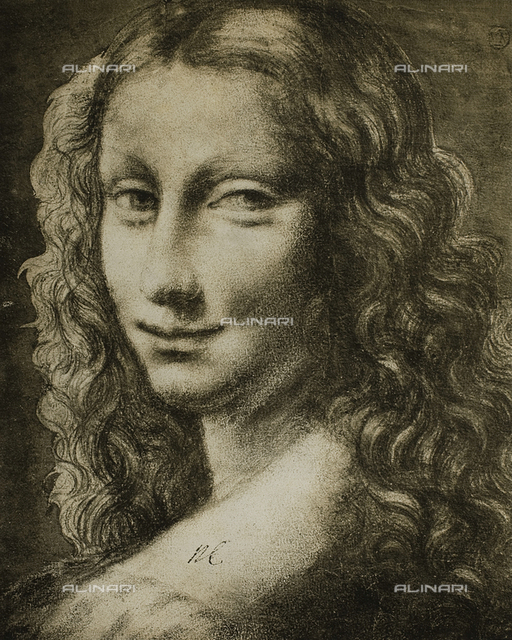 "Portrait of a woman, drawing from the ""school"" of Leonardo, The Louvre, Paris"