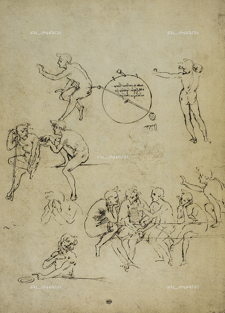 Study of sitting figures, Louvre Museum, Paris.