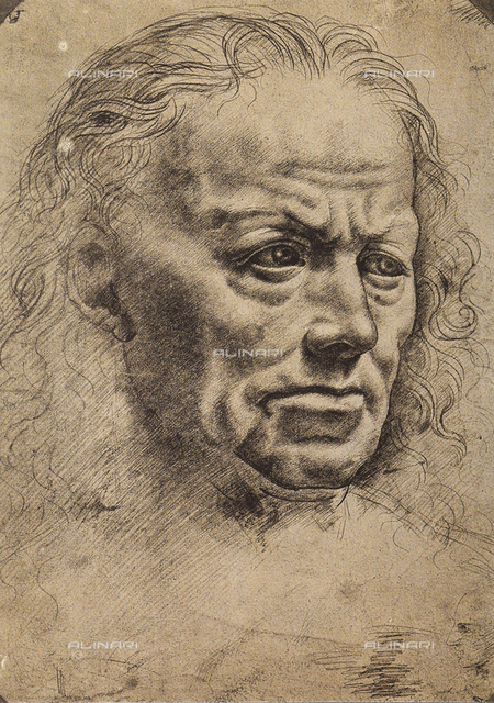 Male portrait, drawing by Leonardo da Vinci, The Louvre, Paris