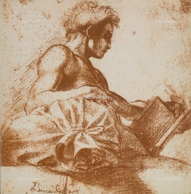 Study of a masculine figure, Andrea del Sarto, British Museum, London