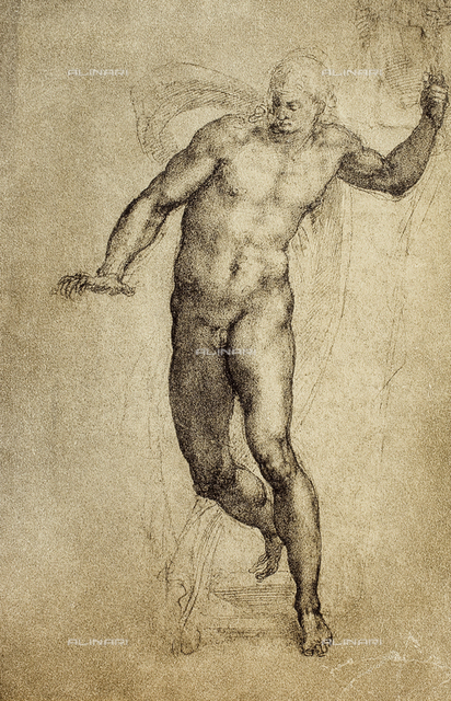 Study of a nude male, British Museum, London