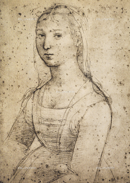 Female portrait; drawing by Raphael. British Museum, London