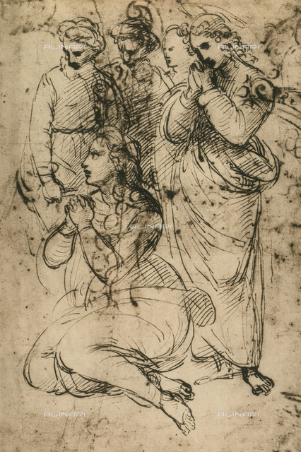 Study for a Crucifixion, Raphael, British Museum, London