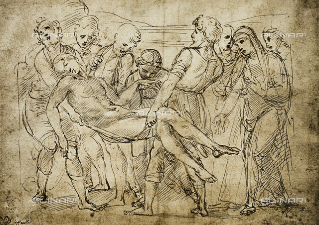 Deposition; drawing by Raphael. British Museum, London