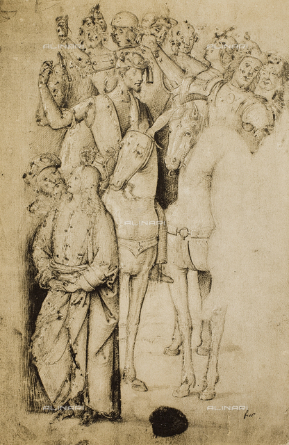 Horsemen; drawing by Raphael. British Museum, London