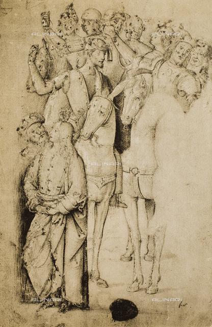 Horsemen; drawing by Raphael. British Museum, London