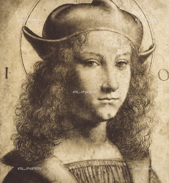 Portrait of an adolescent, drawing from the School of Leonardo, British Museum, London