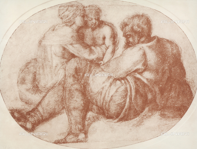 Holy Family, drawing, British Museum, London