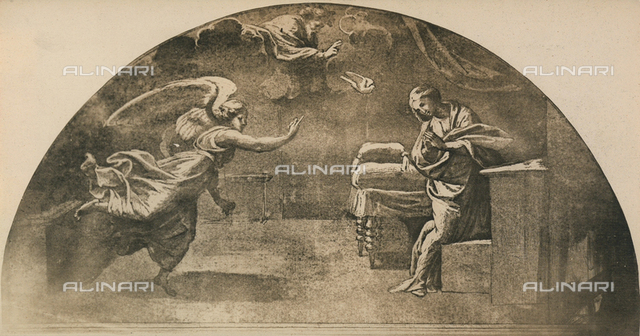 Annunciation; drawing by Raphael, Graphische Sammlung, Albertina, Vienna