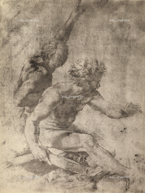 Study for two apostles of the Transfiguration of Christ, Graphische Sammlung, Albertina, Vienna
