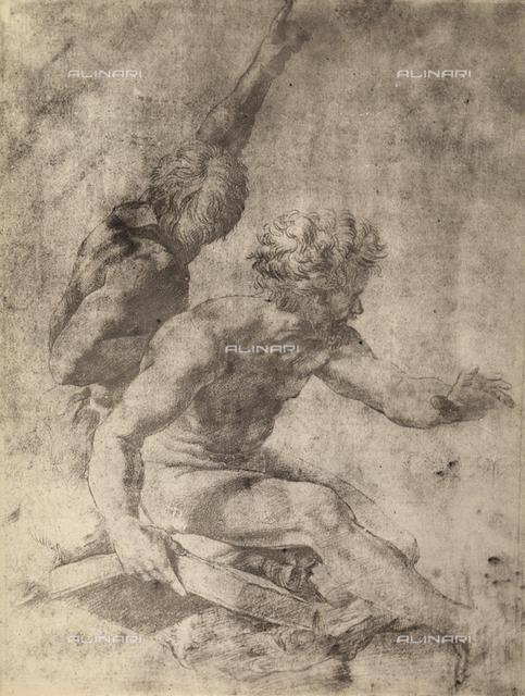 Study for two apostles of the Transfiguration of Christ, Graphische Sammlung, Albertina, Vienna