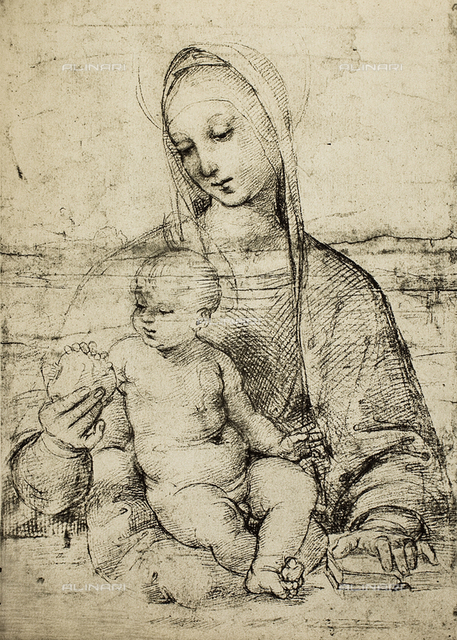 Study of a Madonna and Child, Albertina, Graphische Sammlung, Vienna