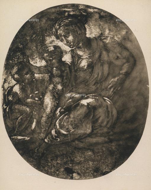 Madonna and Child and the infant St. John, Graphische Sammlung, Albertina, Vienna