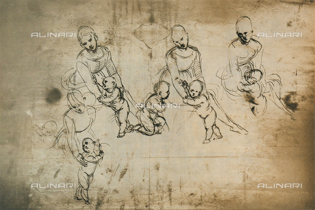 Study for the Madonna of Belvedere, Graphische Sammlung Albertina, Vienna