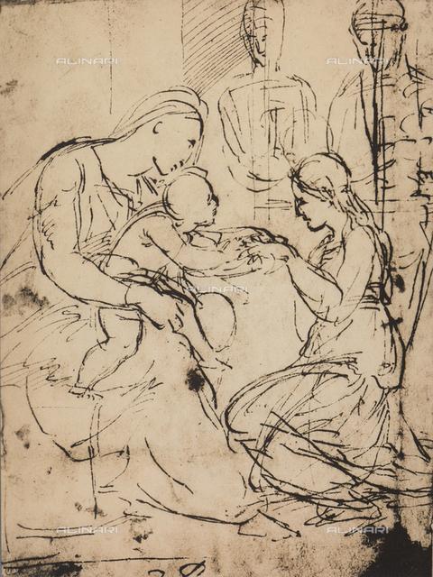 Mystical Marriage of St. Catherine of Alexandria; Graphische Sammlung Albertina, Vienna