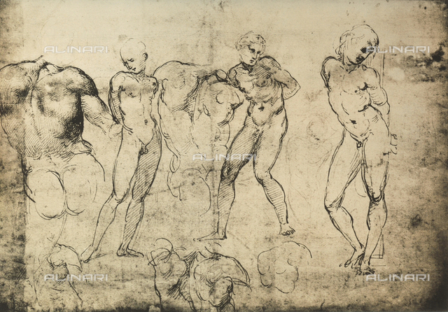 Various studies for a St. Sebastian, Graphische Sammlung Albertina, Vienna