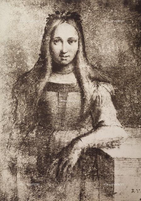 Portrait of a young woman wearing a leaf garland, Graphische Sammlung, Albertina, Vienna