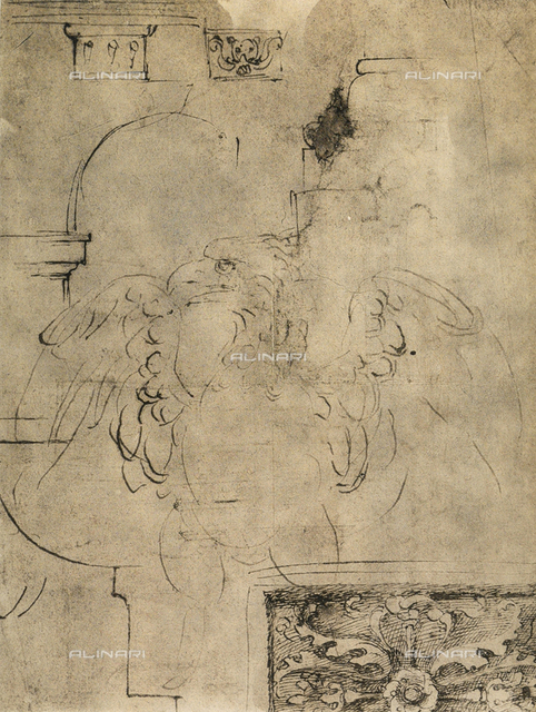 An eagle; drawing by Michelangelo. Casa Buonarroti, Florence