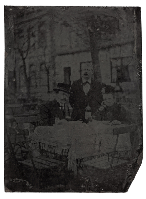 Couple sitting at a table during a lunch