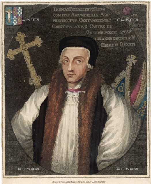 THOMAS ARUNDEL  Archbishop of Canterbury        Date: 1353 - 1414  Howard Pyle in Harper's Monthly November 1882 page 815