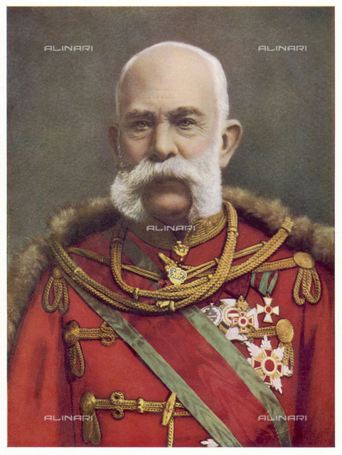 FRANZ JOSEPH  Austrian emperor  in 1901       Date: 1830 - 1916  Reproduction of a portrait by Leopold Horowitz in Leipzig Illustrirte Zeitung 26 November 1908 page 916