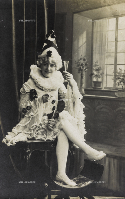 Portrait in carnival costumes, Torino Carnival Festival