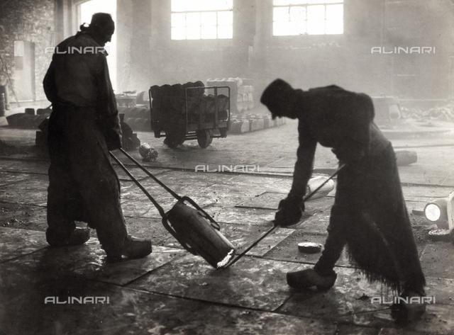 "Workers in a ""Bullets Italian Factory"" (""Fabbrica Italiana Proiettili""), 1920"