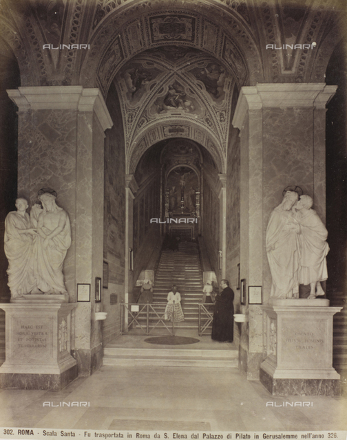 Holy Staircase, designed by Domenico Fontana, Rome