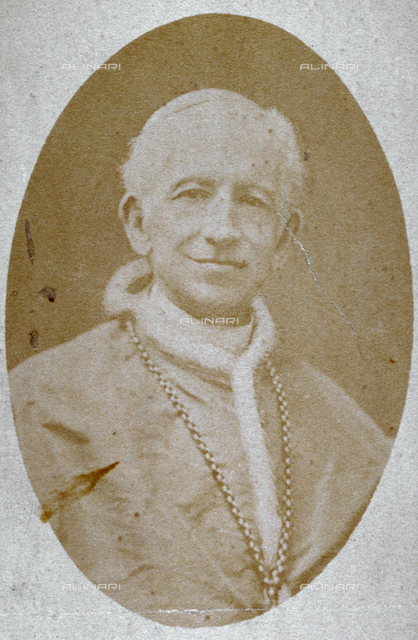Half-length portrait of Pope Leone XIII