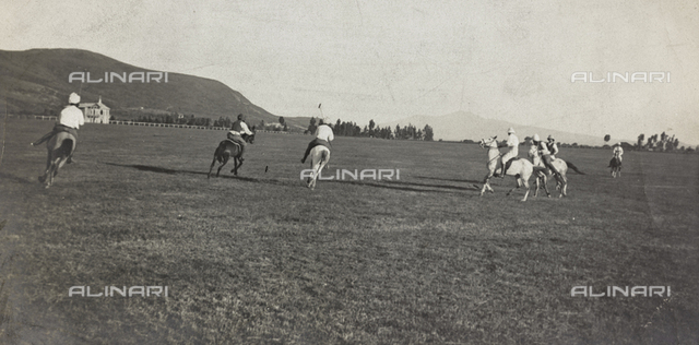 Album of the Marquis Giuseppe Colli Felizzano - Ethiopia / Argentina: game of polo, Addis Ababa