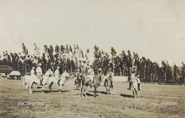 Album of the Marquis Giuseppe Colli Felizzano - Ethiopia / Argentina: game of polo, Addis Ababa