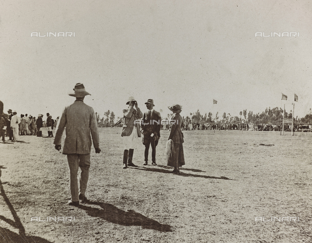 Album of the Marquis Giuseppe Colli Felizzano - Ethiopia / Argentina: People on the polo field, Addis Ababa