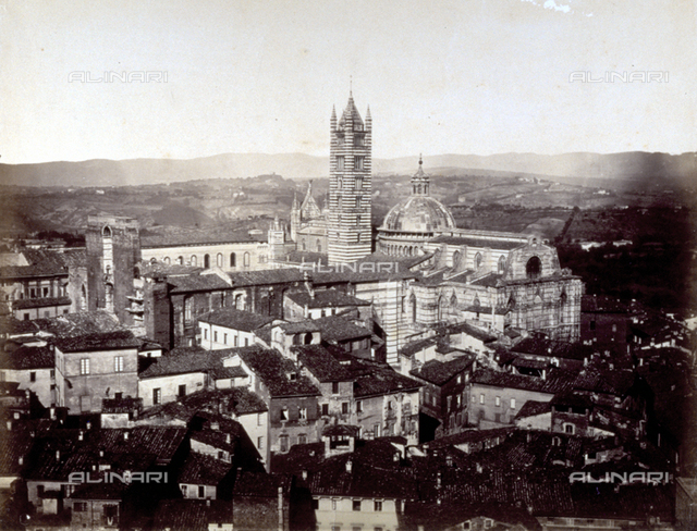 Panorama of Siena, with the Cathedral and the bell tower