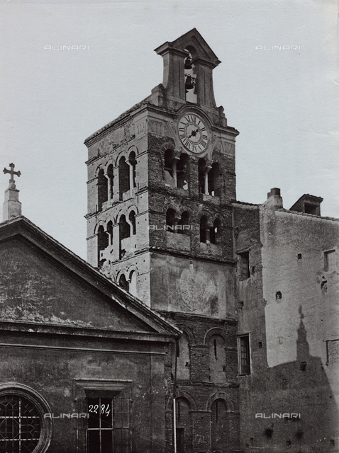 Belltower of the San Lorenzo in Lucina Church, Rome