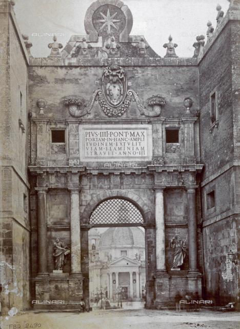 Inside view, Porta del Popolo, Piazza del Popolo, Rome