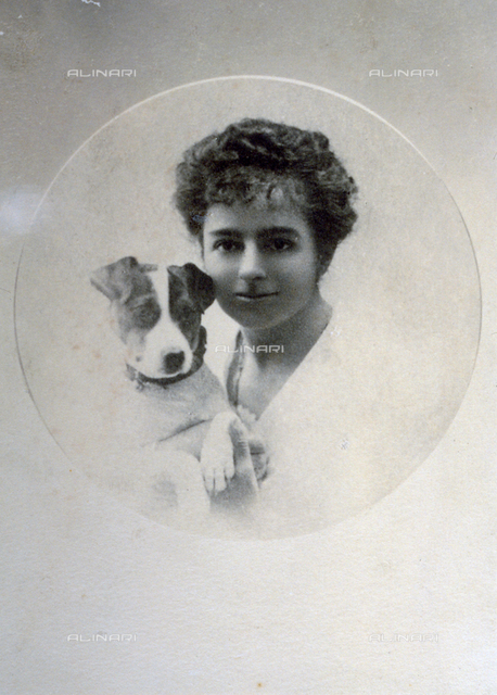 Half-length portrait of the noble lady Emanuela Spinola with her little dog