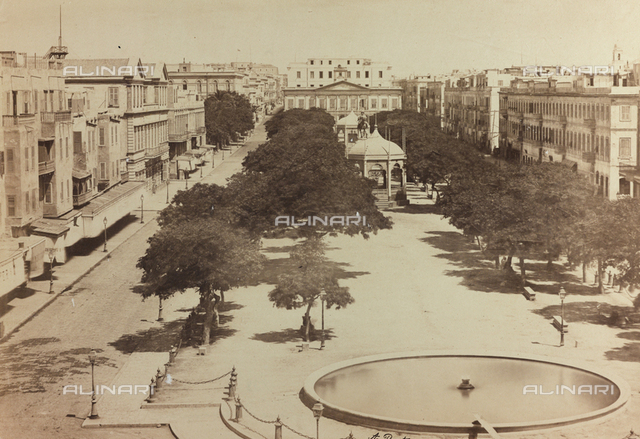 Section of a great square in Alexandria in Egypt