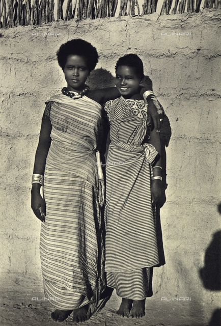 Young African women in traditional dress