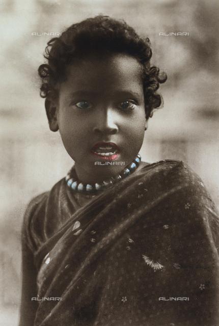 Ethiopian girl in traditional dress