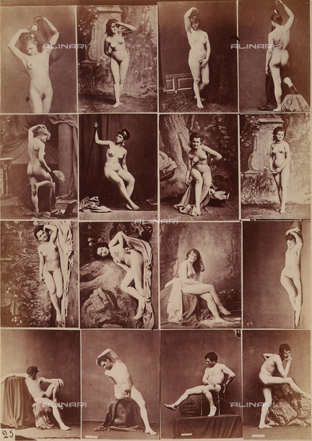 Sequences of female and male nudes in various positions