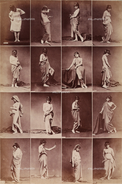 Sequences of female nudes and half-nudes