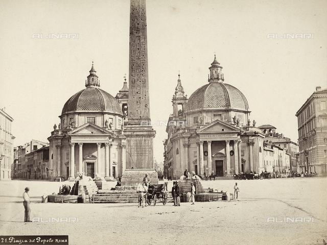 Flaminian Obelisk, Piazza del Popolo, Rome