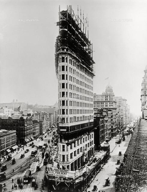 Flatiron building, New York.