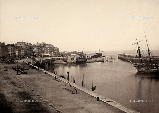 View of the Port of Treport, near Dieppe, France